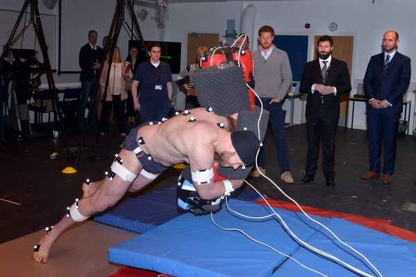 Prince Harry visits RFU Injured Players Foundation at University of Bath